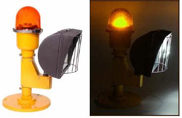 Heliport Light Perimeter & Floodlight 120V Yellow