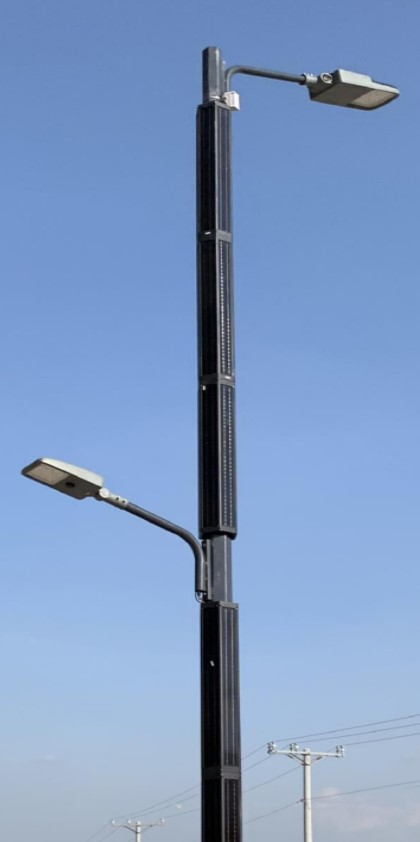 Triangle Smart Solar Pole Light, Solar Cylinder Street Light Post | Solar Street Light | cylindrical led solar led street light Applications: 2800 LM | Cylindrical Solar Module for Integrated Solar Light | Cylindrical Solar Module for Integrated Solar Parking Lot | Cylindrical Solar Panel for Solar Light | Cylindrical Solar Panel for Solar Parking Lot | Solar Module Wrap Solar Parking Lot | Solar Wrap Module for Solar Street Lights | Solar Wrap Panel for Solar Street Lights | Solar Wrap Module for Solar Parking Lot Light | Solar Wrap Panel Solar Parking Lot lights