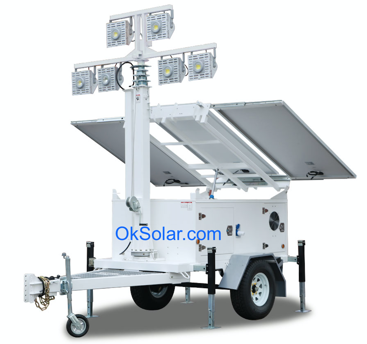 Light Tower United Rentals: Disaster Relief Portable Solar Light Tower