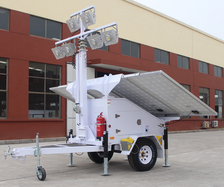 Solar Light Tower, Light Tower, Refugee Camps Solar Light Tower, mobile light towers, Job Site Solar Light Tower, Portable Solar Light Towers, Solar Powered Construction Light Tower