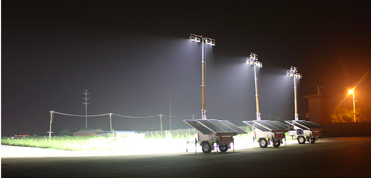 Solar Light Tower Military Security Fence Lighting