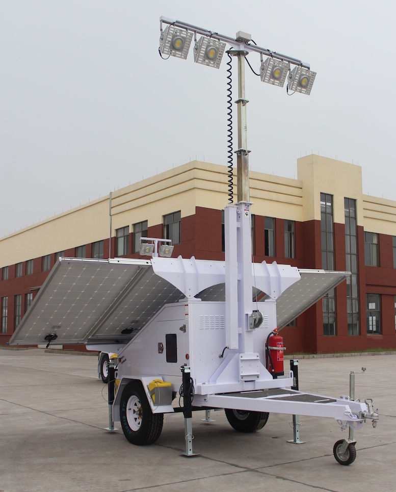 Disaster Relief Portable Solar Light Tower