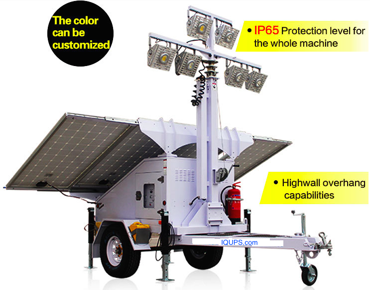 Solar Powered Construction Light Tower