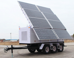 Hospital Emergency Backup Power Solar Trailer