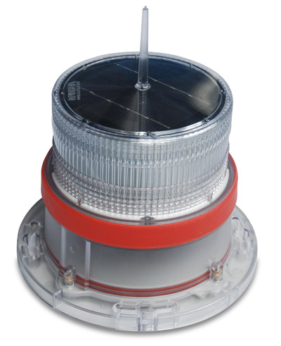 Solar Marine Navigation Light RED