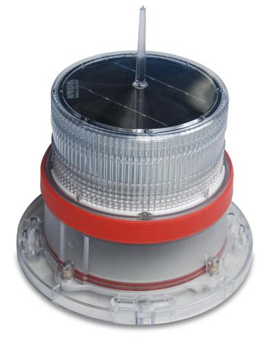 Solar Marine Navigation Light RED