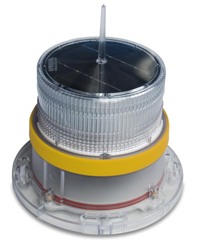 Solar Marine Navigation Light Yellow
