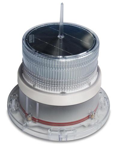 Solar Marine Navigation Light White