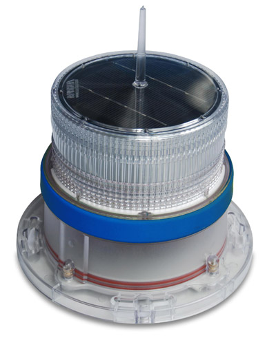 Solar Marine Navigation Light Blue