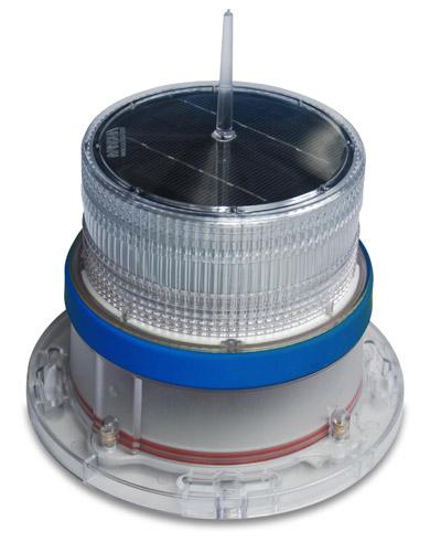 Solar Marine Navigation Light Blue