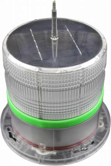 Solar Helipad Beacon Light - Green