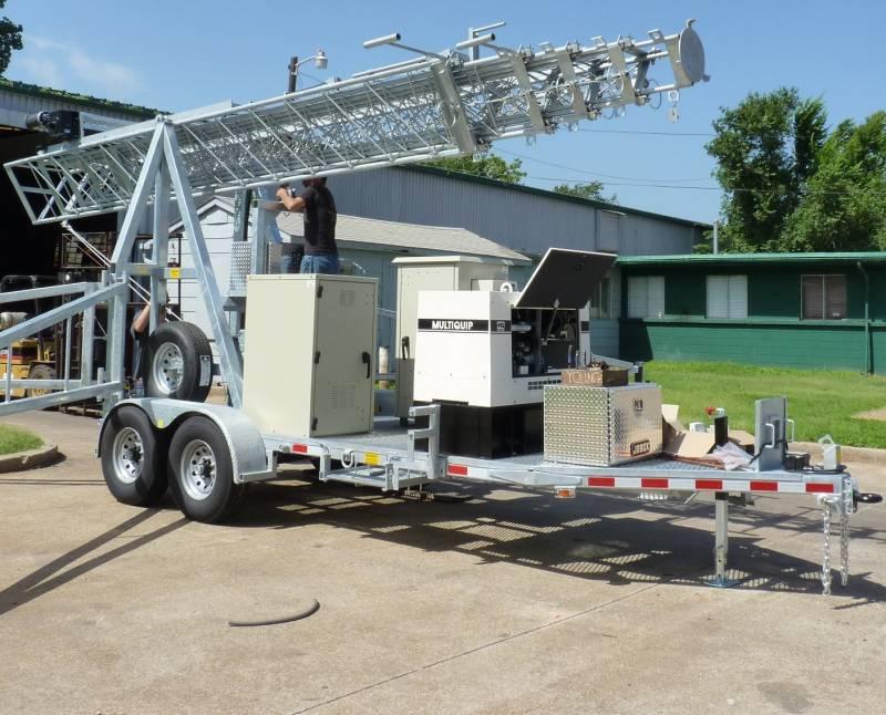 Mobile Communication Trailer Solar
