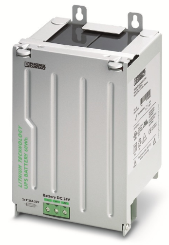 Lithium-ion battery option for DIN rail for UPS