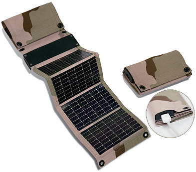 Military USB + AA Solar Chargers