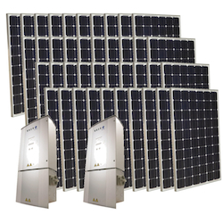 Solar Grid-Tie Home Electrical System 10.000 Watts