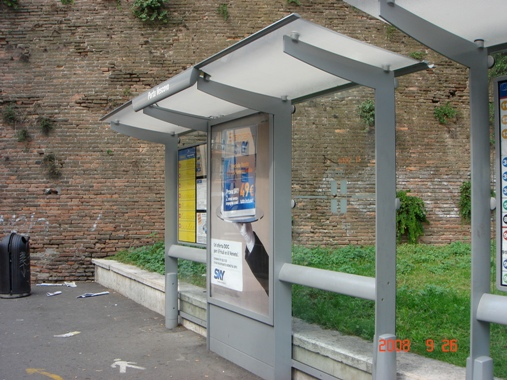 Solar Powered Bus Stop Shelter 1650 Lumen