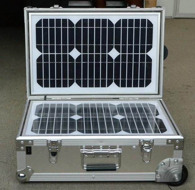 Emergency Portable Solar Power Generator 55Watts