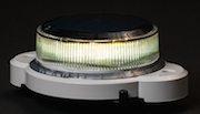 Solar LED Beacon Railroad Blue