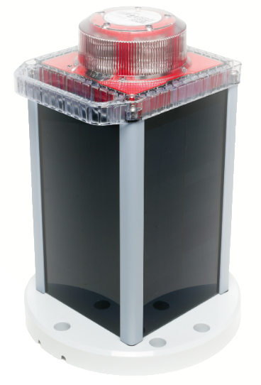 Solar Marine Navigation Light White