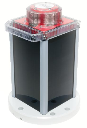 Solar Obstruction Marker Light GPS Red