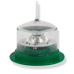 Solar Powered LED Marine Lights Green