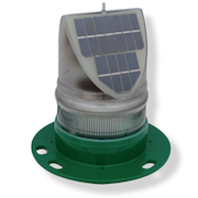 Solar Powered LED light Green