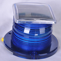Solar Beacon Light Blue
