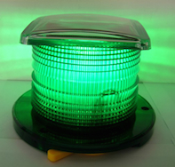 Solar Beacon Light Green