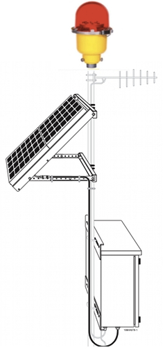 Solar Powered Medium-Intensity Light Type B Obstacle Light