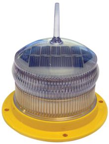Solar-powered LED Airfield lights Green