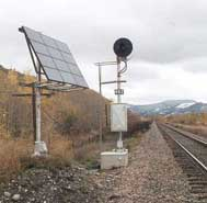Railway Safety Light Solar powered