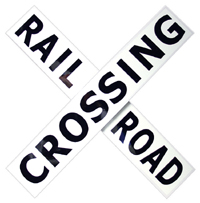 railroad crossing protection.