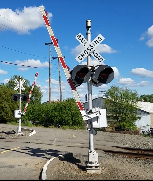 Solar Powered Remote Activated Railroad Crossing