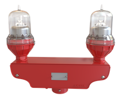 LED 24VDC Red Obstruction Light