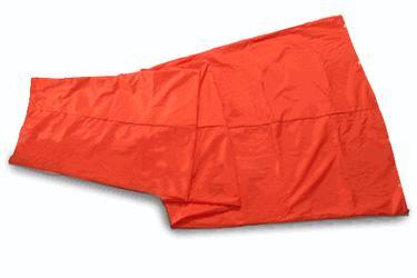 Wind socks 18 inch X 96 feet Orange nylon