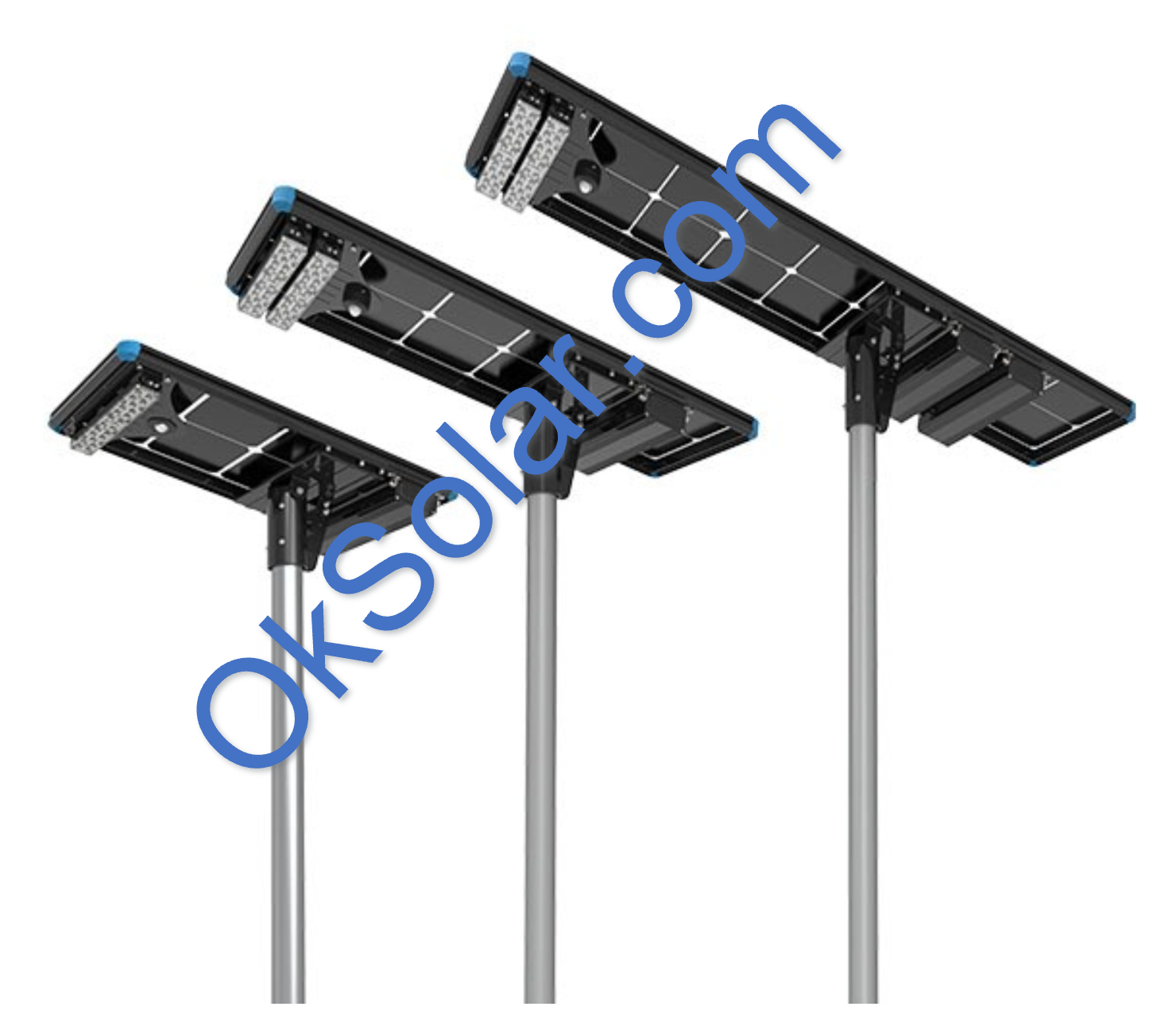 All in One OkSolar IQLED Street Light, Solar Street Light, All-in-One Solar Street Light | Solar LED Light | Solar LED Street Light | Solar Parking lot light | Perimeter Security Lighting | Solar Light Security Fence Smart Human Senso