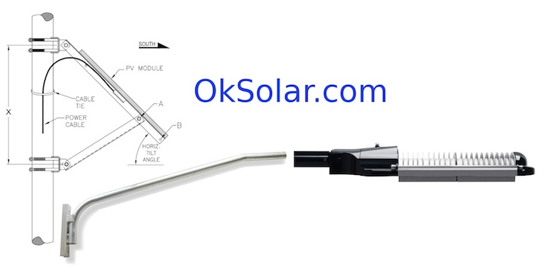 Solar Powered LED Street Lighting 3400 Lumens 35W