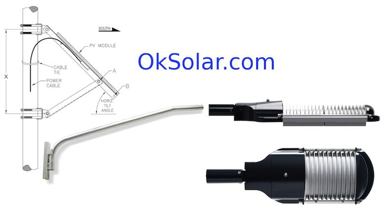 Solar Powered Street LED Light 135 Watts 12,825 Lm