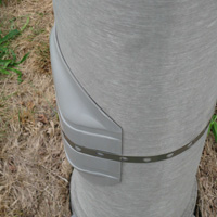 Security Cover for light poles, UNIVERSAL HAND HOLE COVER OkU-Cover is a security cover for light poles.