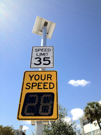 Solar Powered Speed Monitors