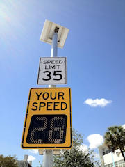 Solar Powered Traffic Calming Speed Detection