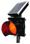 24 Flashing Beacon Solar Powered Traffic Lights