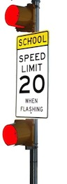 School Zone Flashing Beacon Warning 120VAC