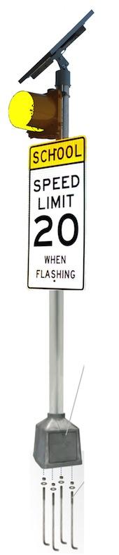 24/7 Flashing Beacon 12 inches Yellow