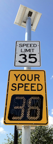 Click Here for More Information on Traffic Calming Solar Powered Your Speed Sign