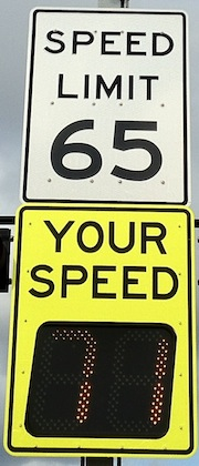 Traffic Calming Sign Your Speed Detection Sign