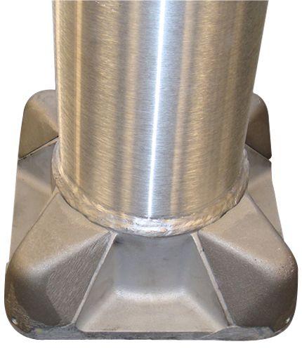 Round Tapered Aluminum Solar Light Pole 25 ft