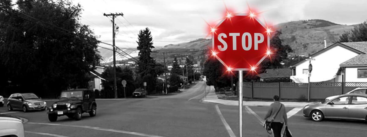 Blinker Stop Flashing LED STOP Sign | Solar Blinker Stop | BlinkerStop Flashing LED STOP Sign | Blinker stop flashing led stop sign | Pedestrian Crossing System.