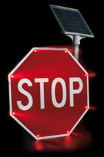 Blinker Stop Flashing LED STOP Sign