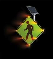 Blinker Sign Flashing LED Pedestrian Crossing
